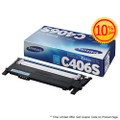 Original Samsung CLT-C406S Cyan Laser Toner Cartridge (406S) in Retail Packaging