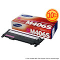 Original Samsung CLT-M406S Magenta Laser Toner Cartridge (406S) in Retail Packaging