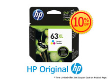 Original HP 63XL Tri-Color High Yield Ink Cartridge (1VV37AA) in Retail Packaging