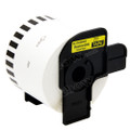 Compatible DK-44605 Continuous Paper Label Roll with Removable Adhesive for Brother Printer (Black On Yellow)