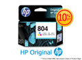 Original HP 804 Tri-Color Ink Cartridge (T6N09AA) in Retail Packaging