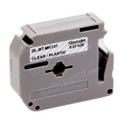 Compatible M-K131 Label Tape for Brother Printer (12mm Black on Clear)