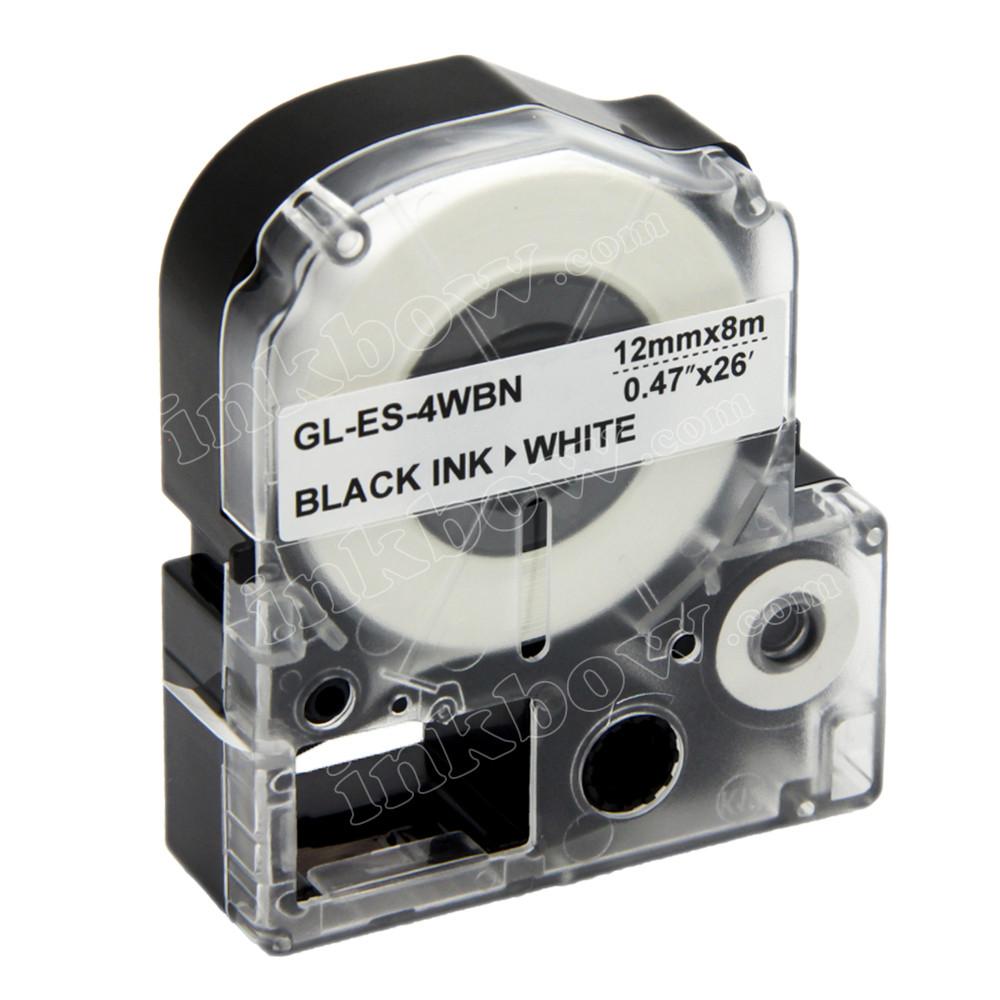 Compatible LK-4WBN Label Tape for Epson Printer (12mm Black on White)