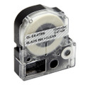 Compatible LK-4TBN Label Tape for Epson Printer (12mm Black on Clear)