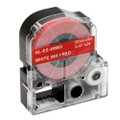 Compatible LK-4RWV Label Tape for Epson Printer (12mm White on Red)
