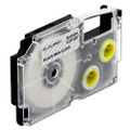 Compatible EZ-Label XR-6X1 Label Tape Cartridge for Casio Label Printer (6mm Black on Clear)