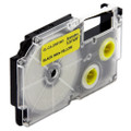 Compatible EZ-Label XR-6YW1 Label Tape Cartridge for Casio Label Printer (6mm Black on Yellow)