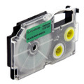 Compatible EZ-Label XR-6GN1 Label Tape Cartridge for Casio Label Printer (6mm Black on Green)
