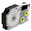 Compatible EZ-Label XR-12X1 Label Tape Cartridge for Casio Label Printer (12mm Black on Clear)