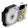 Compatible EZ-Label XR-12WE1 Label Tape Cartridge for Casio Label Printer (12mm Black on White)