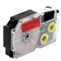 Compatible EZ-Label XR-12RD1 Label Tape Cartridge for Casio Label Printer (12mm Black on Red)