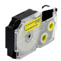 Compatible EZ-Label XR-12YW1 Label Tape Cartridge for Casio Label Printer (12mm Black on Yellow)