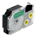 Compatible EZ-Label XR-12GN1 Label Tape Cartridge for Casio Label Printer (12mm Black on Green)