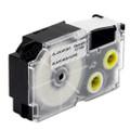 Compatible EZ-Label XR-18X1 Label Tape Cartridge for Casio Label Printer (18mm Black on Clear)