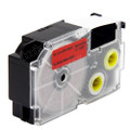 Compatible EZ-Label XR-18RD1 Label Tape Cartridge for Casio Label Printer (18mm Black on Red)