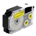 Compatible EZ-Label XR-18YW1 Label Tape Cartridge for Casio Label Printer (18mm Black on Yellow)