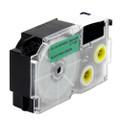 Compatible EZ-Label XR-18GN1 Label Tape Cartridge for Casio Label Printer (18mm Black on Green)