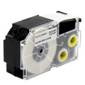 Compatible EZ-Label XR-24X1 Label Tape Cartridge for Casio Label Printer (24mm Black on Clear)