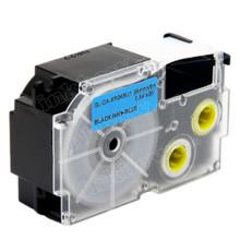 Compatible EZ-Label XR-24BU1 Label Tape Cartridge for Casio Label Printer (24mm Black on Blue)