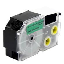 Compatible EZ-Label XR-24GN1 Label Tape Cartridge for Casio Label Printer (24mm Black on Green)