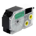 Compatible EZ-Label XR-24GN1 Label Tape Cartridge for Casio Label Printer (24mm Black on Green)