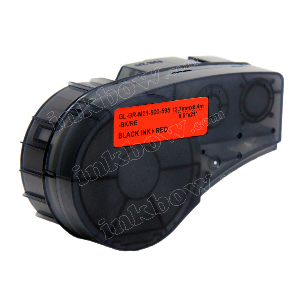 M21-750-499 - Black On White Nylon Brady High Adhesion Cloth Label Tape C...