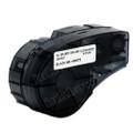 Compatible M21-500-499 Nylon Cloth Label Tape for Brady Label Printer (12.7mm Black on White)