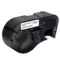 Compatible MC-500-595-WT-BK Vinyl Label Tape for Brady Label Printer (12.7mm Black on White)