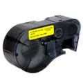 Compatible MC-500-595-YL-BK Vinyl Label Tape for Brady Label Printer (12.7mm Black on Yellow)