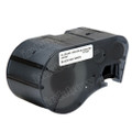 Compatible MC-1500-595-WT-BK Vinyl Label Tape for Brady Label Printer (38.1mm Black on White)