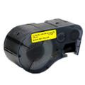 Compatible MC-1500-595-YL-BK Vinyl Label Tape for Brady Label Printer (38.1mm Black on Yellow)