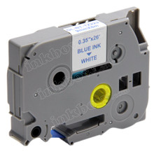 Compatible TZe-223 Laminated Label Tape for Brother Printer (9mm Blue on White)