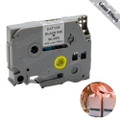 Compatible LZ-931 Laminated Decorative Hologram Label Tape for Brother Printer (12mm Black on Silver with laser effect)