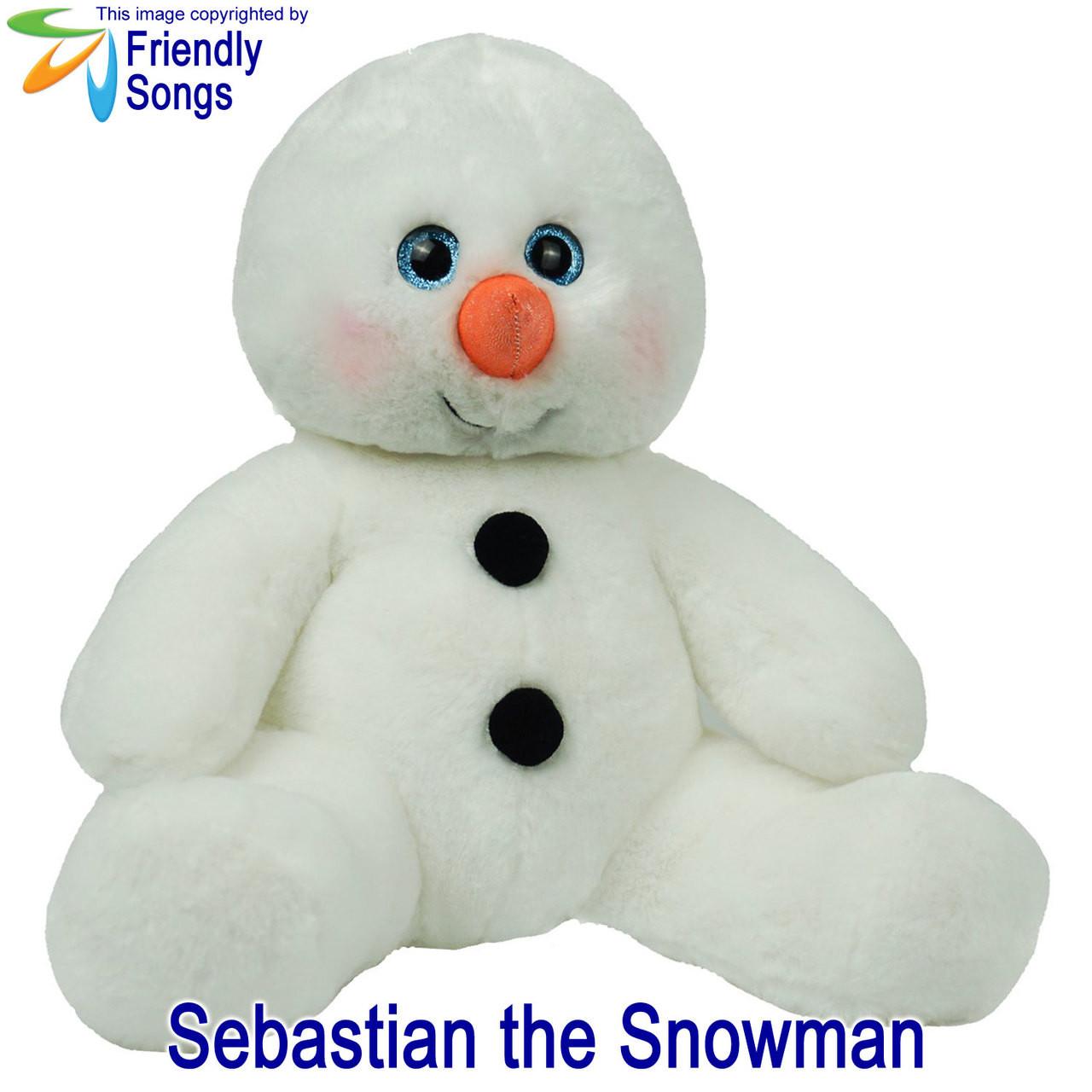 Sebastian the Snowman Personalized Stuffed Animal
