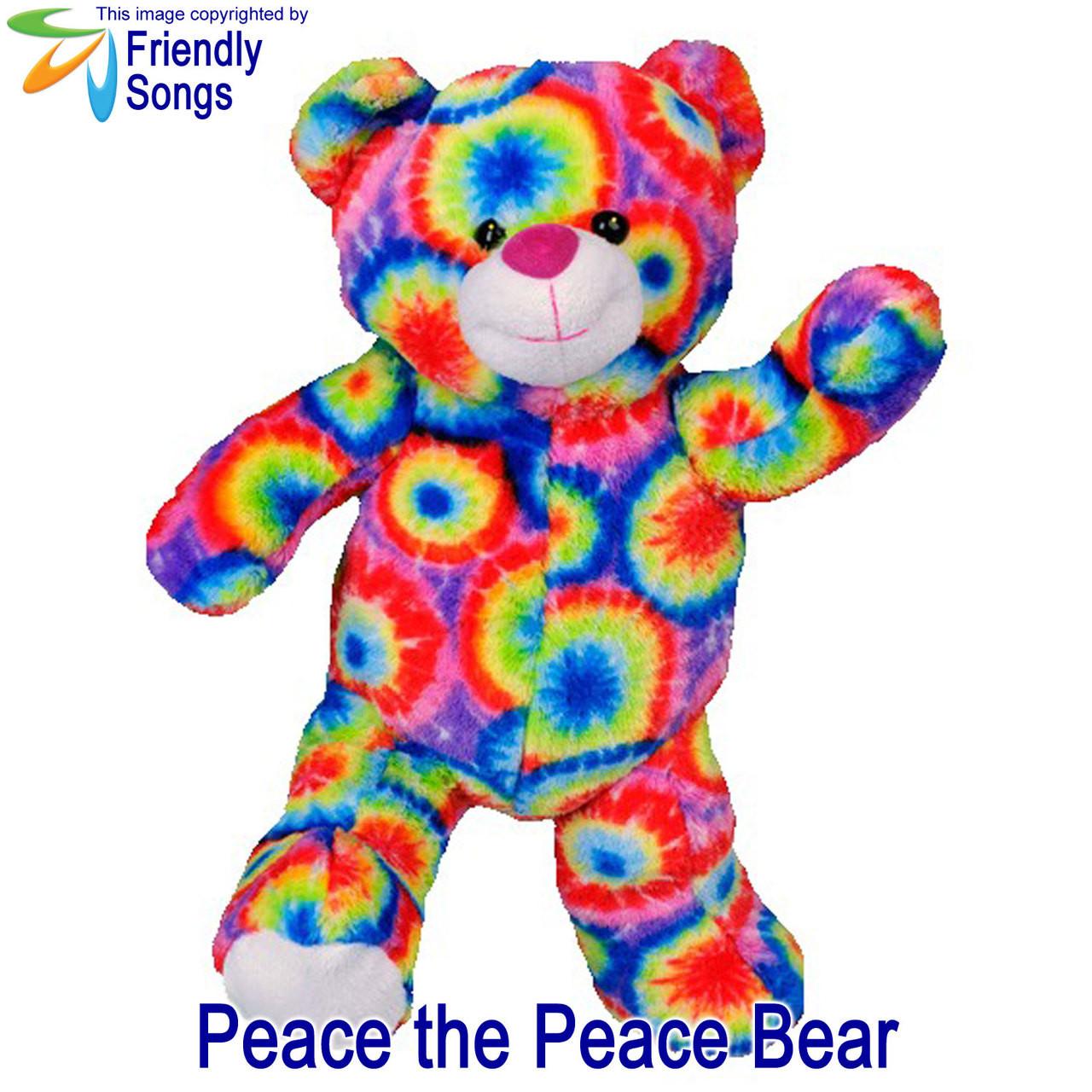 Peace the Peace Bear Personalized Stuffed Animal