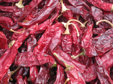Choose from X-hot, Hot, Medium, Mild sun-dried chile pods. Comes in a 5 lb. box with stems, seeds.
