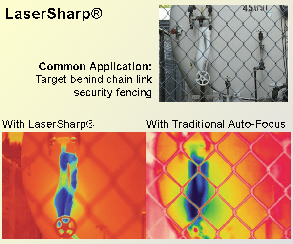FLUKE LaserSharp® technology allows you to precisely focus on the exact item you want to measure for best temperature accuracy