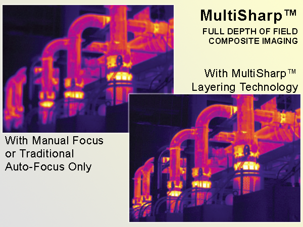 FLUKE MultiSharp™ technology provides sharp, in-focus clarity at all depths of field in one image