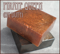 shiny yummy coppery brown pirate queen ON duty soap