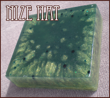 NIZE HAT soap: blue and gold and EXCITING