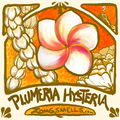 A big fat juicy plumeria, pikkake jasmine lei, and a bit of gardenia petal foof in moderately Nouveau style.
