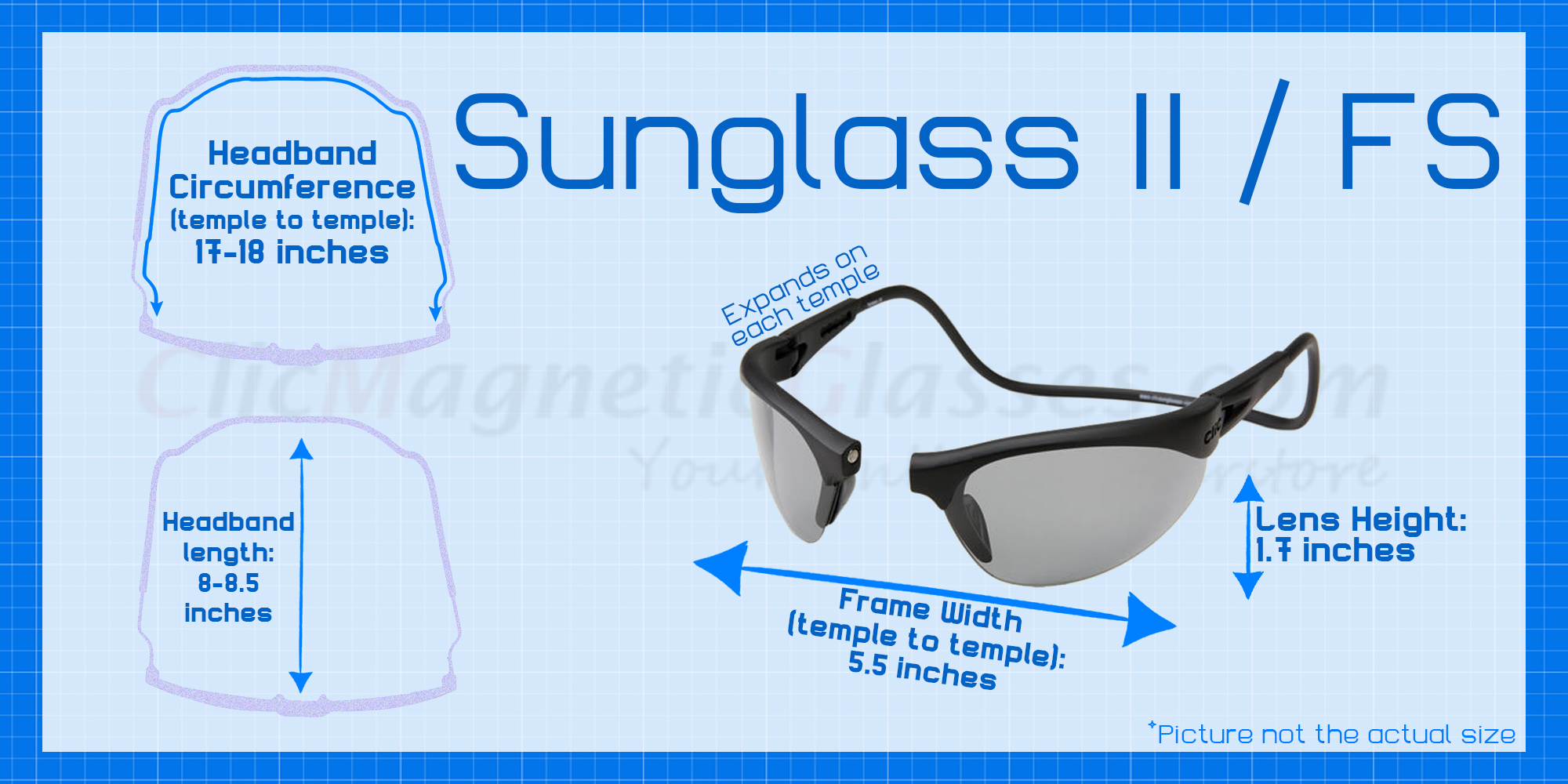 Clic Magnetic Sunglass Lens Replacement for Clic II /& Clic Fishing Series