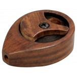 Teardrop shape wood pipe