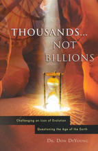 This long-awaited book shatters the famed dating methods employed by evolutionists to cast doubt on the veracity of the Bible and its chronology of earth history. Radiometric dating is one of the linchpins of evolutionary education today. By dating the soil in which fossils are found to very long ages, evolutionists undermine faith in Genesis as the true documentary of the history of the universe. When people are told that a dinosaur bone has been determined to be tens of millions of years old, that obviously doesn't square with the biblical record of man being created on day 6 with the land animals. But DeYoung now demonstrates that Christians no longer have to puzzle over this glaring contradiction. A must-have for the serious Bible student, Thousands...not Billions will bolster the faith of many.