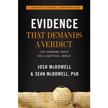 Evidence That Demands a Verdict: Life-Changing Truth for a Skeptical World  Hardcover    In the first edition of Evidence That Demands a Verdict, Josh McDowell armed thoughtful Christians with historical documentation and modern scholarship, bearing witness to the truth of the Bible. Evidence quickly became a resource for millions of believers in defense of Christianity against the harshest of critics. Josh is joined by his son, Sean McDowell, in this exciting new 800 page edition with more historical insights to encourage those familiar with Evidence, as well as a new generation of believers, to embrace the truth of Christ in a skeptical culture. This is a book that invites readers to bring their doubts and doesn't shy away from the tough questions.  By Josh McDowell and Sean McDowell