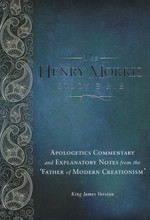 "The Henry Morris Study Bible is ""an invaluable tool for the defense of the Christian faith"" according to Dr. John MacArthur. With over 10,000 study notes, no other resource offers the comprehensive analysis of biblical creation and authority of Scripture.  The written Word of God is under attack in our culture like never before. The annotations of this King James Version of the Bible will: explain the Bible's difficult passages resolve its alleged contradictions point out the evidences of its divine origin confirm its historical accuracy note its remarkable anticipations of modern science remove any doubts about its inerrancy, authority and ability to meet every human need. The 2,215 pages feature a 10-point font and a two column format making it easy to read. Inside you will also find the Words of Christ in red, 22 total appendices, full color maps and a concordance. The hard cover offers a dignified and gentle design that both men and women will find attractive. The professional Smyth Sewn binding gives this reference resource a life that will span generations.  Dr. Henry Morris is known as the father of modern Creation science, the founder of Institute for Creation Research (ICR) and the author of many well-known apologetic books. His thriving legacy continues to equip Christians to be able to defend the accuracy and authority of Scripture today."
