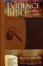 "Be prepared to share the gospel and answer skeptics' objections with this New King James Version Bible. Learn how to prove the authenticity of Scripture through prophecy.  With the Evidence Bible you will:  Learn how to show the absurdity of evolution  Study how to share your faith with your family or at your workplace  Learn how to witness to an atheist. See from Scripture how to prove God's existence without the use of faith  Discover how to prove the authenticity of the Bible through prophecy  See how the Bible is full of eye-opening scientific andmedical facts  Read fascinating quotes from Charles Darwin, Albert Einstein, Sir Isaac Newton, Louis Pasteur, Stephen Hawking, and many other well-known scientists  Lean how to refute the ""contradictions"" in the Bible  Study how to speak with a Mormon, a Jehovah's Witness, a Buddhist, a Hindu and a Muslim  Find out why the Dead Sea Scrolls are relevant to the Bible  Read incredible quotes about the Bible from presidents and other famous people  Discover how to answer questions such as Where did Cain get his wife?, Why there is suffering?, Why did the dinosaur disappear?, and many more"