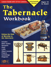 This lesson guide with 12 fun lessons for ages 10 to adult is the perfect workbook to follow the path of worship in the Tabernacle. Includes:      Bible studies     Passports     Plays     Crafts     Object Lessons     Projects     Furnishings     Diagrams  Softcover, 40 pages from Rose Publishing.