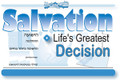 Salvation: Life's Greatest Decision is an amazing 18 page detailed booklet covering salvation in English & Hebrew. This not only covers salvation, but also what baptism is. This is a great salvation tool for Jewish unbelievers. PACK OF 12 BOOKLETS