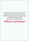 "This 4 page tract that opens up to two paths asking the reader….""Where art thou? Loaded with scriptures, it will show the reader where they are at spiritually asking them if they are on the read to Heaven or the road to Hell? PACK OF 12 BOOKLETS"